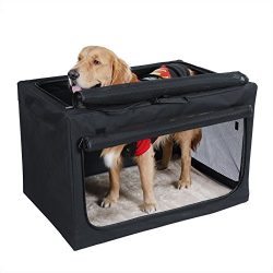 Petsfit Travel Pet Home Indoor/Outdoor For Medium To Large Dog Steel Frame Home