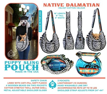 Pet Flys Puppy Pouch Sling Native Dalmatian
