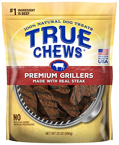 True Chews Premium Grillers Dog Treats, Made with Real Steak, 20 oz