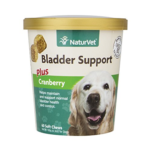 NaturVet Healthy Bladder Support Supplement for Dogs, Soft Chews with Cranberry, Healthy Bladder Control and Urination, Immune System Support, Made by