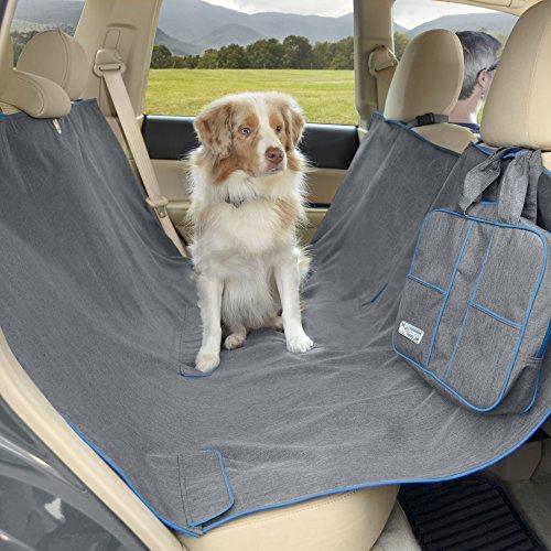 Kurgo Heather Dog Hammock – Pet Seat Cover – Waterproof & Stain Resistant