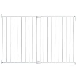 Munchkin Extending XL Tall and Wide Hardware Baby Gate, Extends 33″ – 56″ Wide, White, Model MK0004