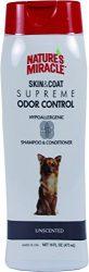 Nature's Miracle Supreme Odor Control Hypoallergenic Shampoo & Conditioner, 16 oz