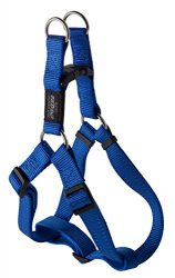 Reflective Adjustable Dog Step in Harness for Extra Large Dogs; matching collar and leash available, Blue
