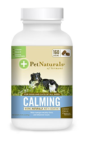 Pet Naturals of Vermont – Calming, Behavioral Support Supplement for Dogs and Cats, 160 Bite Sized Chews