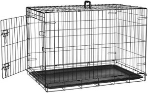 AmazonBasics Single-Door Folding Metal Dog Crate – 36 Inches
