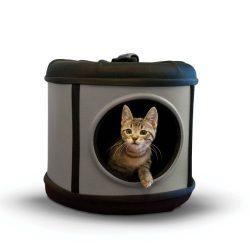 K&H Pet Products Mod Capsule Pet Carrier & Shelter Gray/Black 17″ x 17″ x 15.5″