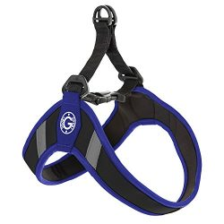 Gooby Simple Step In Dog Harness with Reflective Lining, Blue, Large
