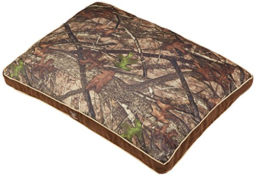 True Timber TT24BROWN Camo Suede Gusset Reversible Dog Pet Bed, 27×36