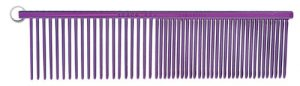 Resco Professional Anti-Static Best Dog, Cat, Pet Grooming Comb, Medium / Coarse Tooth Spacing, 1.5-Inch Pins, Candy Purple