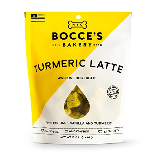 Bocce's Bakery Turmeric Latte Biscuits Bag Dog Treat, 5 oz