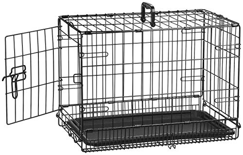 AmazonBasics Single-Door Folding Metal Dog Crate – 22 Inches