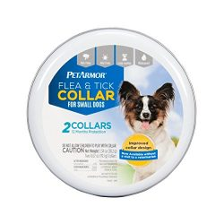 PETARMOR Flea & Tick Collar for Small Dogs, 6 Monthly Treatments, 2-Count