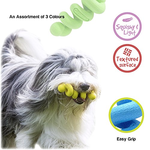 Gnawbbers Stetchy Coil Floating Flexible Dog Toy, Assorted Colors