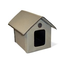 K&H Manufacturing Outdoor Kitty House, 18 x 22 x 17-Inches, Unheated – Olive