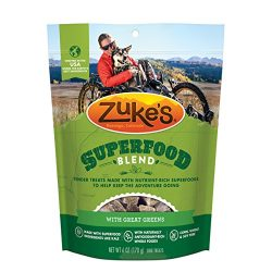 Zuke's SuperFood Blend With Great Greens Dog Treats – 6 oz. Pouch