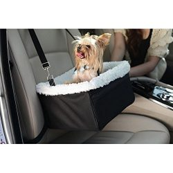 Iconic Pet Furrygo Adjustable Luxury Car Booster Seat, Black, Large