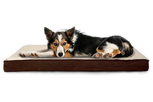 FurHaven Deluxe Orthopedic Pet Bed Mattress for Dogs and Cats, Espresso, Large