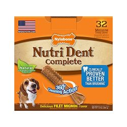 Nylabone Nutri Dent Adult Filet Mignon 32 ct Medium Pantry Pack