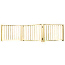Four Paws Expandable Dog Gate, Wood Gate for Dogs, 3-Panel