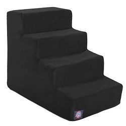 Majestic Pet 4 Step Black Velvet Suede Pet Stairs By Products