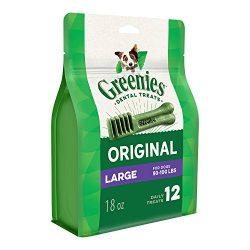 Greenies Original Large Dental Dog Treats, 18 oz. Pack (12 Treats)