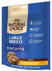 Nutro NATURAL CHOICE Large Breed Adult Dog Treats, Chicken and Whole Brown Rice, 32 oz.