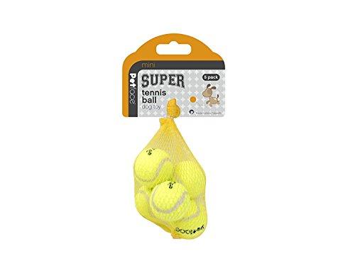 Petface Dog Toy, Mini Tennis Balls, 5 pack Pet Toy Balls, 4cm, Green