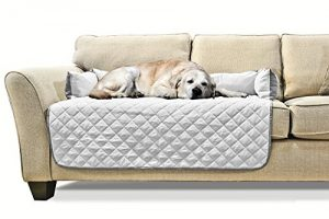 Furhaven Pet Sofa Buddy Reversible Furniture Cover Protector Pet Bed for Dogs and Cats, Large, Gray/Mist