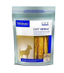 Virbac C.E.T. HEXtra Premium Oral Hygiene Chews for Dogs (1 Pouch), Small