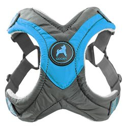 Gooby Trekking Memory Foam Harness & Comfort for Dogs, Large, Blue