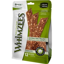 Whimzees 14 Count Natural Grain Free Dental Dog Treats, Veggie Strip, Medium
