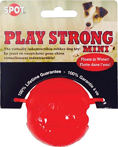 Ethical Pets 54098 Play Strong Rubber Ball, 2.25″, Red