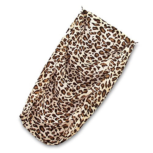 "SUEDE COVER for 3-Step Doggie Stairs for Small Dogs Cats- Fits Best Pet Supplies (18"" x 15"" x 19"") Foam Pet Steps- Machine Washable Covers- Anti Slip Base- Ultra Plush Supplies for Dog Furniture (Animal Print)"