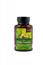 Halo Vita Glo Daily Greens Natural Multi-Vitamin And Mineral Supplement For Cats & Dogs, 100 Tabs