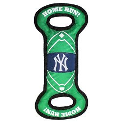 Pets First YAN-3030 MLB New York Yankees Baseball Field Tough Dog Toy, MLB Team Color