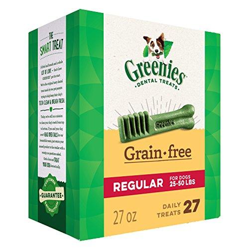 Greenies Grain Free Regular Size Dental Dog Treats, 27 oz. Pack (27 Treats)