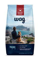 WAG Amazon Brand Dry Dog Food, No Added Grain, Beef & Lentil Recipe with Wild Boar, 30 lb. Bag
