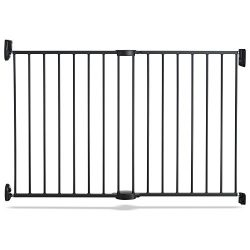 Munchkin Push to Close Hardware Baby Gate, Extends 28.5″ to 45″ Wide, Dark Grey, Model MK0001