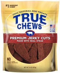 True Chews Premium Jerky Cuts Dog Treats, Made with Real Steak, 10 oz