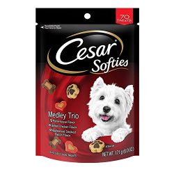 CESAR SOFTIES Medley Trio Dog Treats – 6 oz. 70 Treats (Pack of 8)