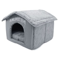 Portable Indoor Pet House, Best Supplies, Silver