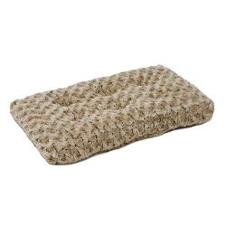 MidWest Homes for Pets Plush Pet Bed | Ombré Swirl Dog Bed & Cat Bed | Mocha 23L x 18W x 1.75H -Inches for Small Dog Breeds