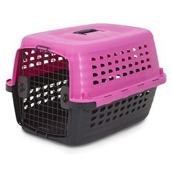 Petmate 41037 Compass Fashion Pets Kennel with Chrome Door, Hot Pink/Black