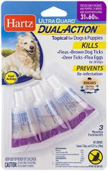 HARTZ Ultra Guard Dual Action Drops for Dogs & Puppies, 31-60 lb