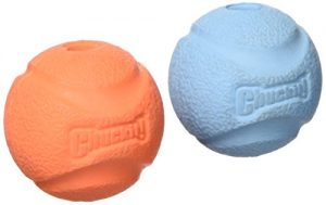 Chuckit! Fetch Ball, Small, 2-Inch, 2-Pack, Colors may vary