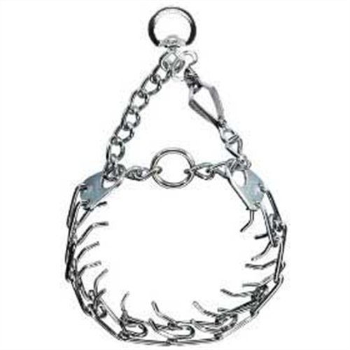 Herm Sprenger Pet Supply Imports Chrome Plated Training Collar with Quick Release Snap for Dogs, Medium, 3.0mm, 21-Inch