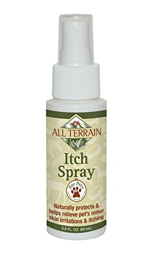 All Terrain Paraben-free, Safe & Effective Pet Itch Spray, 2oz, Colloidal Oatmeal Based, Help Soothe & Relieve Itchy, Irritated Skin & Paws