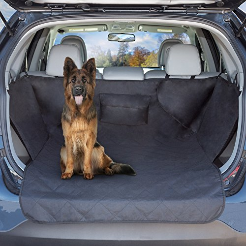 PETMAKER Cargo Liner Dog Seat Cover- Quilted Waterproof All Weather Non-Slip Pet Travel Mat with Side Coverage and Bumper Flap Protector for SUVs by