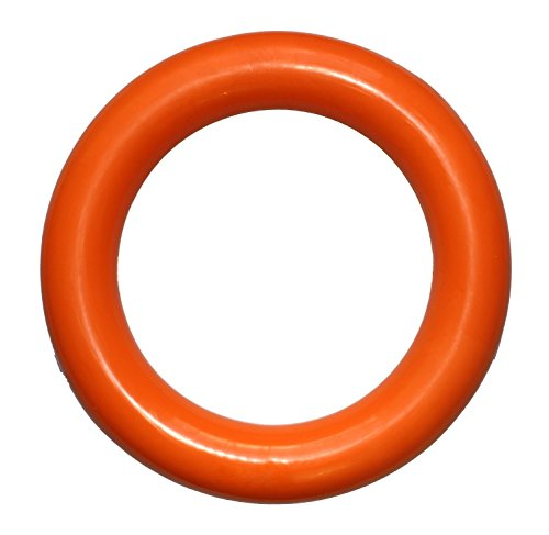 PlayfulSpirit Durable Natural Rubber Ring – Great Tug of War Dog Toy, Fun for Throw, Chase and Fetch Games, Exercise and Dog Training Toy for Medium to Large Breed Puppies and Adult Dogs (L, Orange)